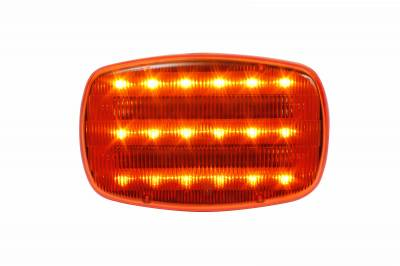Custer Products - Custer HF18A-PHD Amber LED Light - Battery Powered - Magnetic - Heavy Duty Magnets - Clamshell