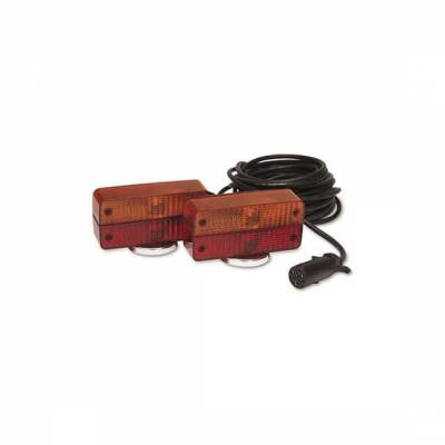Custer Products - Custer SPL50B-7 Red/Amber Magnetic Tow Lights  50 ft. Cord  7-Pin Plug - 120# Magnets