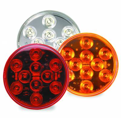 Custer Products - Custer CPL4A-10 4 in. Round AMBER LED Stop/Tail/Turn Light - 10 Diode