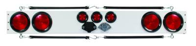 Custer Products - Custer WP48R 48 in. Long - Oval Lights - 4 and 7 Pin Connection - White Light Bar