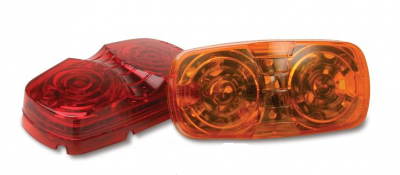 Custer Products - Custer CPL120A 4 in. Amber LED Rectangular Side Marker Light - 16 Diode
