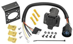 Tow Ready - Tow Ready 4-Flat to 7-Way Flat Pin U.S. Car Connector Adapter