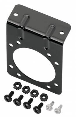 Tow Ready - Tow Ready Mounting Bracket for 7-Way Flat Pin Connectors, Includes Screws and Nuts