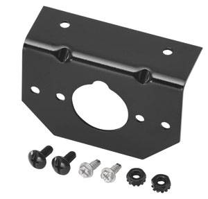 Tow Ready - Tow Ready 118137 Mounting Bracket for 4, 5 and 6-Way Connectors, Includes Screws and Nuts