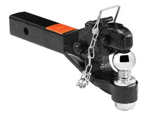 "Tow Ready - Tow Ready 63040 Receiver Mount Pintle Hook w/1-7/8"" Ball (Inc. Grade 8 Hardware) Hook Rating 12,000 lbs. (GTW), Ball Rating 2,000 lbs. (GTW), 2,400 lbs. (VL), Black"