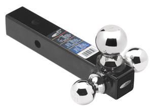 "Tow Ready - Tow Ready 80799 Tri-Ball Ball Mount, 2"" Sq. Solid Shank w/Chrome 1-7/8"", 2"", & 2-5/16"" Balls, Black"