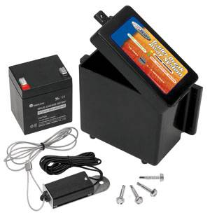Tow Ready - Tow Ready 20048 Breakaway Kit for 1 to 2 Axle Trailers w/Electric Brakes, Includes Battery Box, 5 Amp Battery w/LED Test Meter, Battery Charger and Breakaway Switch