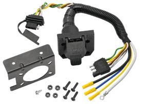 Tow Ready - Tow Ready 20144 7-Way Flat Pin Connector/4-Flat Combo Adapter Harness w/Mounting Bracket & Hardware