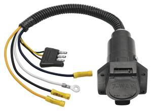 Tow Ready - Tow Ready 20321 4-Flat to 7-Way Flat Pin Connector Adapter, Plastic