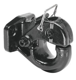 Tow Ready - Tow Ready 63015 15 Ton Regular Pintle Hook (Inc. Grade 8 Hardware) Rating 30,000 lbs. (GTW), 6,000 lbs. (VL), Black