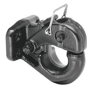 Tow Ready - Tow Ready 63016 30 Ton Regular Pintle Hook (Hardware Included) Rating 60,000 lbs. (GTW), 14,000 lbs. (VL), Black