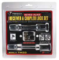 Trimax Locks - Trimax Locks TM33 T3 - 5/8 in. Receiver & TC3 - 3-1/2 in. Span Coupler Lock