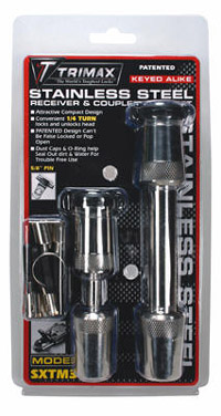 Trimax Locks - Trimax Locks SXTM31 Stainless Steel T3 - 5/8 in. Receiver & TC1 - 7/8 in. Span Coupler Lock