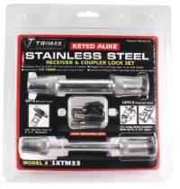 Trimax Locks - Trimax Locks SXTM33 Stainless Steel T3 - 5/5 in. Receiver & TC3 - 3-1/2 in. Span Coupler Lock