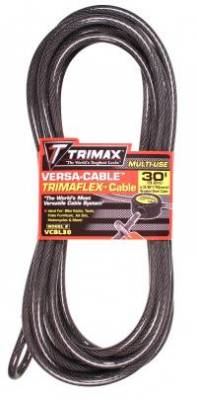 Trimax Locks - Trimax Locks VMAX30CBL Multi-Use Versa-Cable  - 30' L X 10mm Replacement Cable Only