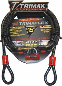 Trimax Locks - Trimax Locks TDL1510 15' X 10mm Trimaflex Dual Loop Multi-Use Cable