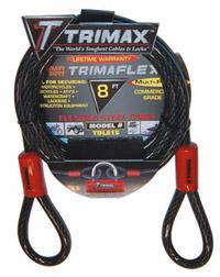 Trimax Locks - Trimax Locks TDL815 8' X 15mm Trimaflex Dual Loop Multi-Use Cable