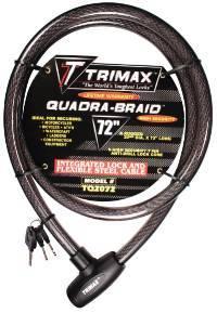 Trimax Locks - Trimax Locks TQ2072 Trimaflex Integrated Keyed Cable Lock 72 in. L X 20mm