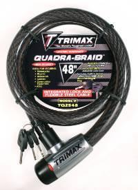 Trimax Locks - Trimax Locks TQ2548 Trimaflex Integrated Keyed Cable Lock 48 in. L X 25mm