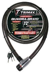 Trimax Locks - Trimax Locks TQ2572 Trimaflex Integrated Keyed Cable Lock 72 in. L X 25mm