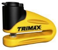 Trimax Locks - Trimax Locks T665LY Hardened Metal Disc Lock 10mm Pin - Long Throat with Pouch - Yellow
