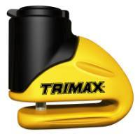 Trimax Locks - Trimax Locks T645S Hardened Metal Disc Lock 5.5mm Pin - Short Throat with Pouch - Yellow