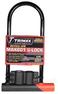Trimax Locks - Trimax Locks MAX601 Medium Security Bicycle U-Shackle 4-1/8 in. X 11 in. Inside with 14mm  Shackle