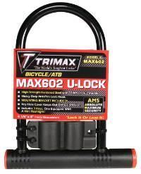 Trimax Locks - Trimax Locks MAX602 Medium Security PVC Coated 5 in. X 9 in. Inside with 14mm Shackle
