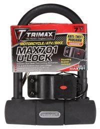 Trimax Locks - Trimax Locks MAX701 Medium Security U-Shackle Lock with 15mm Shackle
