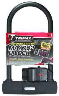 Trimax Locks - Trimax Locks MAX702 Max Security U-Shackle Lock with 15mm Shackle