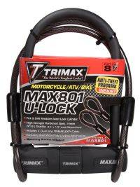 Trimax Locks - Trimax Locks MAX801 Max Security U-Shackle Lock 14mm Shackle with 10 mm X 48' Cable