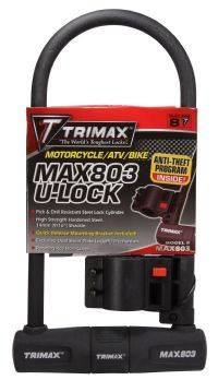Trimax Locks - Trimax Locks MAX803 Max Security U-Shackle Lock with 14mm Shackle
