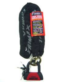 Trimax Locks - Trimax Locks THEX5060 Combo Set - Thex Super Chain - 5' X 12mm and MAX60 Disc U-Lock
