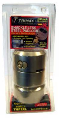 Trimax Locks - Trimax Locks THP3XL Hockey-Puck Internal Shackle Trailer Door Lock - 3-Pack All Keyed Alike