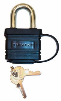 Trimax Locks - Trimax Locks TPW1125 Weatherproof Laminated Solid Steel-Dual Locking 1-1/8 in. X  5/16 in. Shackle