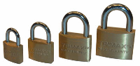 Trimax Locks - Trimax Locks TPB75 2-Pack Marine Grade Solid Brass Body with Hardened .75 in. X 3/8 in. Diameter Shackle