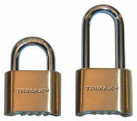 Trimax Locks - Trimax Locks TPC125 Solid Brass Resettable Combo - 2 in. Body with 1-1/4 in. X 5/16 8mm