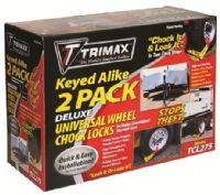 Trimax Locks - Trimax Locks TCL275 Deluxe Wheel Chock Lock Keyed-Alike - Two Pack-Medium