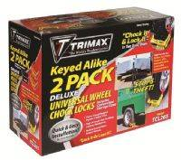 Trimax Locks - Trimax Locks TCL265 Deluxe Wheel Chock Lock Keyed-Alike - Two Pack-Small