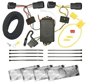 Tow Ready - Tow Ready 118254 Replacement OEM Tow Package Wiring Harness (4-Flat) with Circuit Protected ModuLite Module