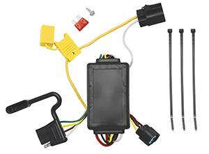 Tow Ready - Tow Ready 118258 Replacement OEM Tow Package Wiring Harness (4-Flat) with Circuit Protected ModuLite Module