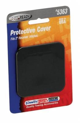 "Tow Ready - Tow Ready 5363 Receiver Tube Cover, 2"" Sq., Black, Plastic (1202)"