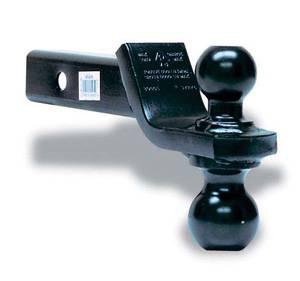 "Tow Ready - Tow Ready 80404 Dual-Ball Ball Mount, 2"" Sq. Hollow Shank, 10"" Length, w/Black 1-7/8"" (Rise) & 2"" (Drop) Balls, Black"