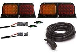 Custer Products - Custer AG-KIT-LED-HD 35 ft. Ag Light Kit with 7-Way Round Plug and Heavy Duty Cable - LED
