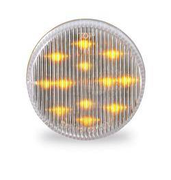 Custer Products - Custer CPL25CA 2.5 in. Round Amber LED Light -  13 Diode with Clear Lens