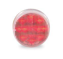 Custer Products - Custer CPL25CR 2.5 in. Round Red LED Light - 13 Diode with Clear Lens
