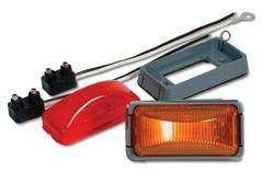 Custer Products - Custer CPL26-R 2.5 in. x1.25 in. Rectangular Red LED Light - 2 Diode