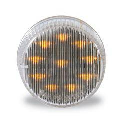 Custer Products - Custer CPL2CA 2 in. Round Amber LED Light with Clear Lens - 10 Diode
