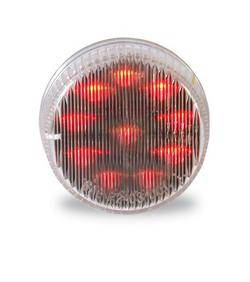 Custer Products - Custer CPL2CR 2 in. Round Red LED Light with Clear Lens - 10 Diode