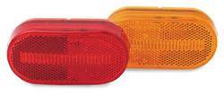 Custer Products - Custer CPL42-R 4 in. x 2 in. Red Oval LED Light - 4 Diode